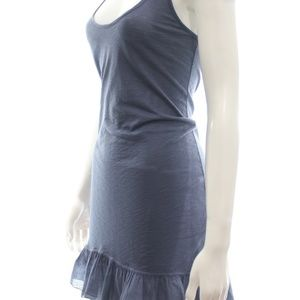 SPLENDID BLUE TANK RUFFLED MINI DRESS SIZE S NWT